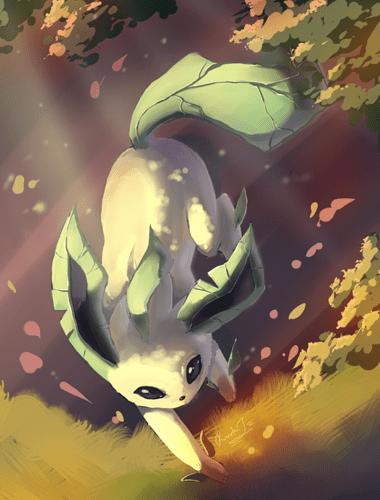 leafeon_by_evilqueenie-d3kdh19